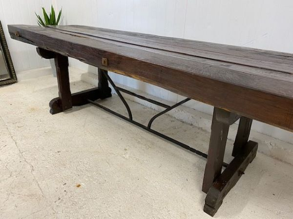 Very Impressive Heavy, French Rustic  Table - a37